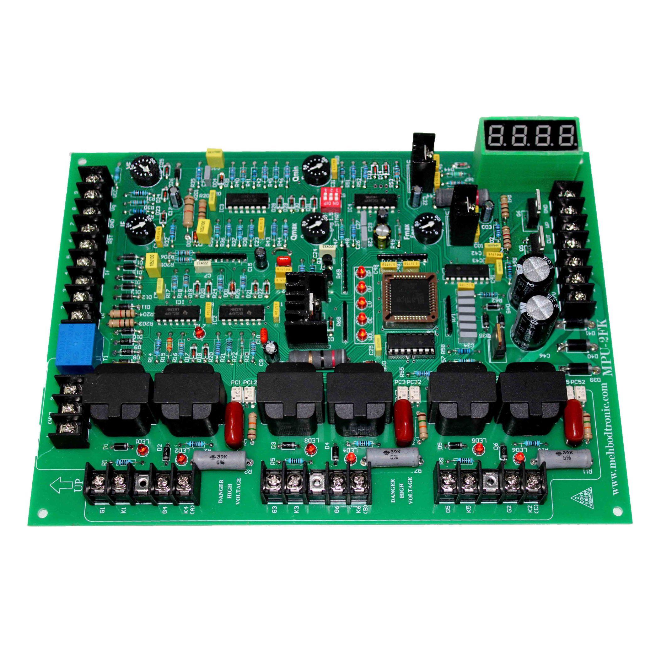 برد کنترل تریستور | MPU-2 FK | برد کنترل کننده کوره های القایی 3 فاز
